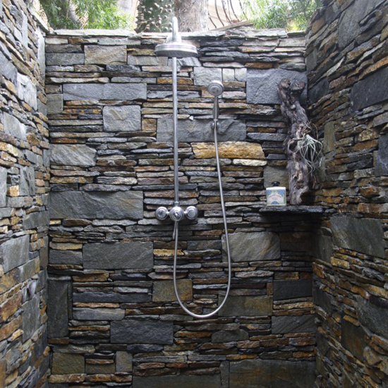 Quarzplatten Dusche : Outdoor Slate Stone Shower