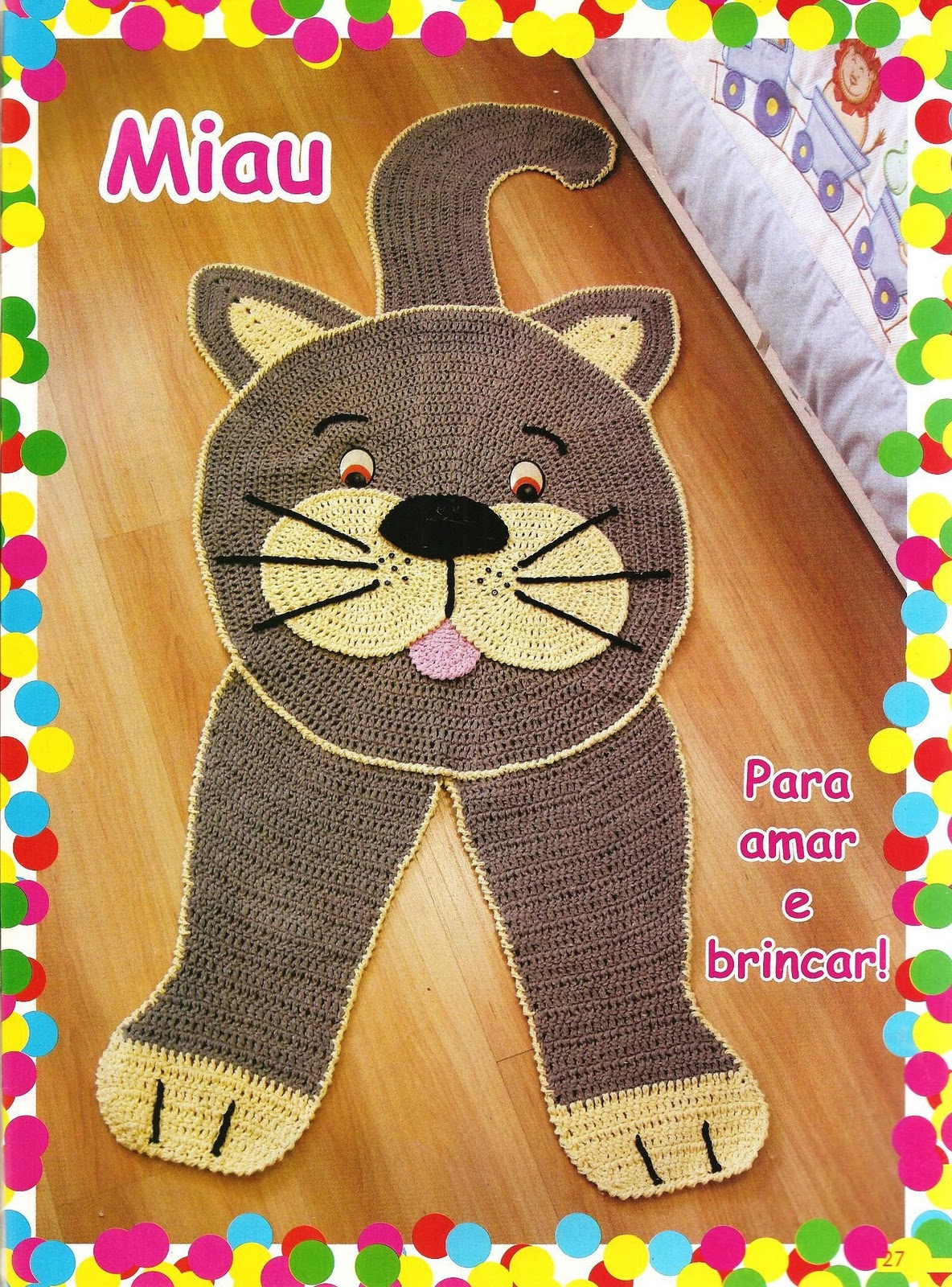 Moda do Crochê: Tapetes infantis em crochê #C6C105 1184 1600