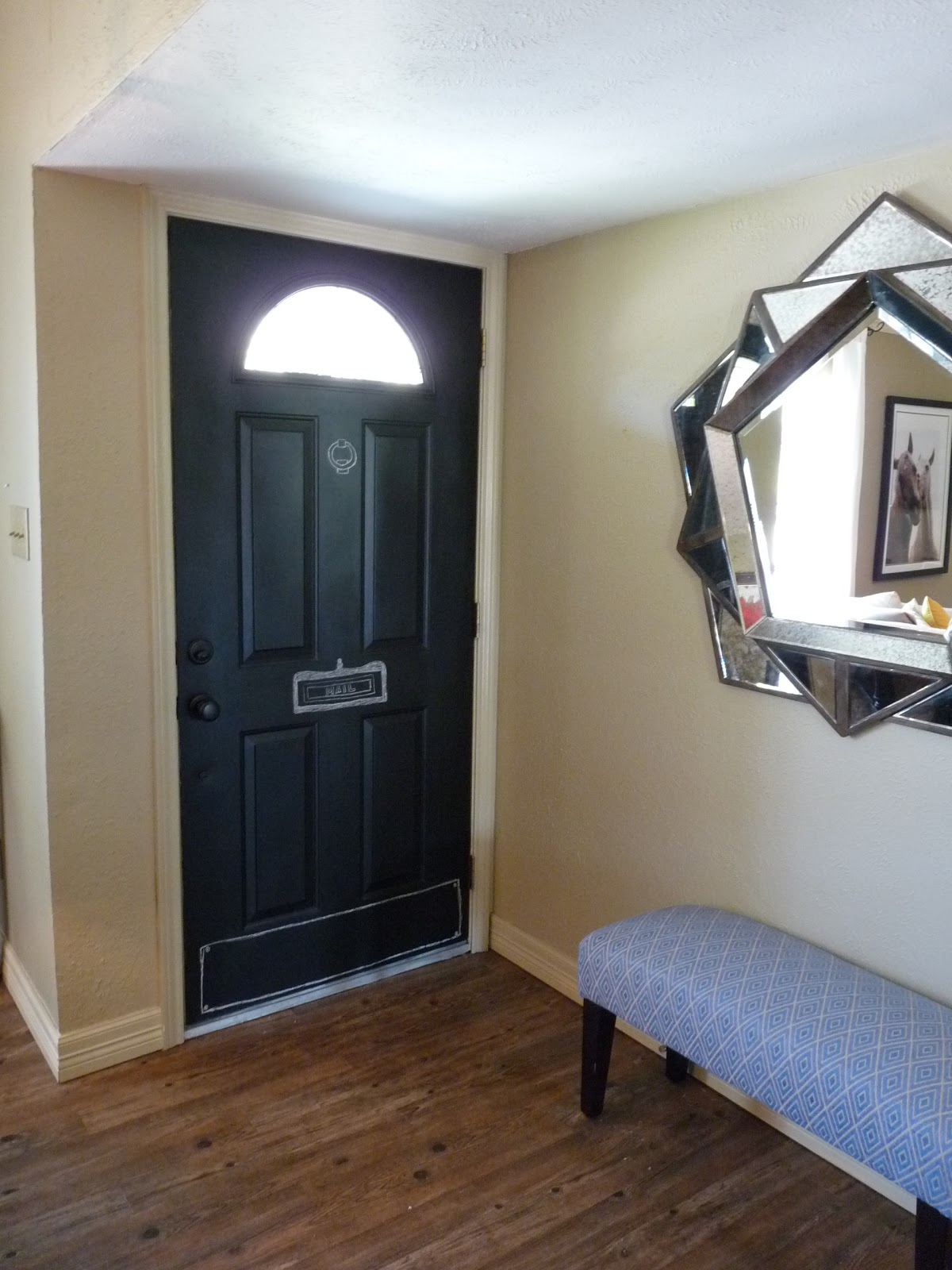 The Happy Homebodies: Entry Makeover, Chalkboard Front Door and ...