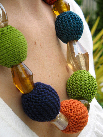 Knitting Stitches With Beads : knitnscribble.com: Audrey jewelry to knit, crochet or bead
