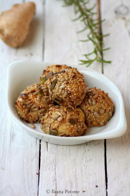 crocchette di patate e tonno allo zenzero e rosmarino