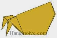 Bước 21: Hoàn thành cách xếp con cua ẩn dật hay con ốc đoạt hồn bằng giấy theo phong cách origami.