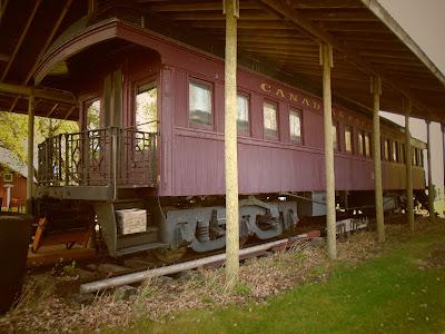 Van Horne railcar on display