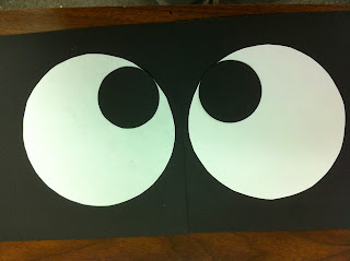 Black Construction Paper Eye Balls