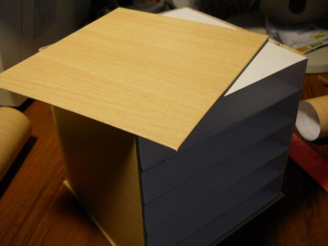 комод из картона