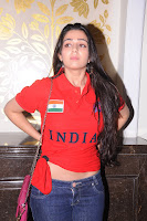 Charmi at INDIA Brand Launch in Red T-Shirt and denim Spicy Pics