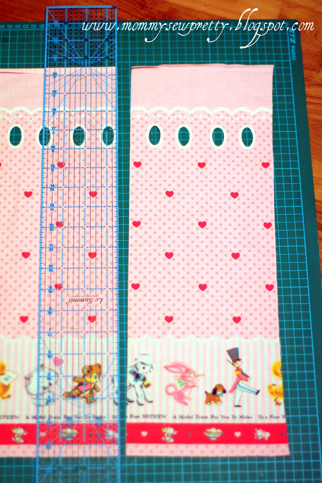 how to cut and sew a pinafore