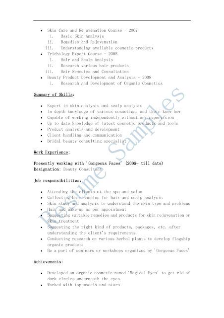 beauty advisor cover letter no experience - Romeo.landinez.co