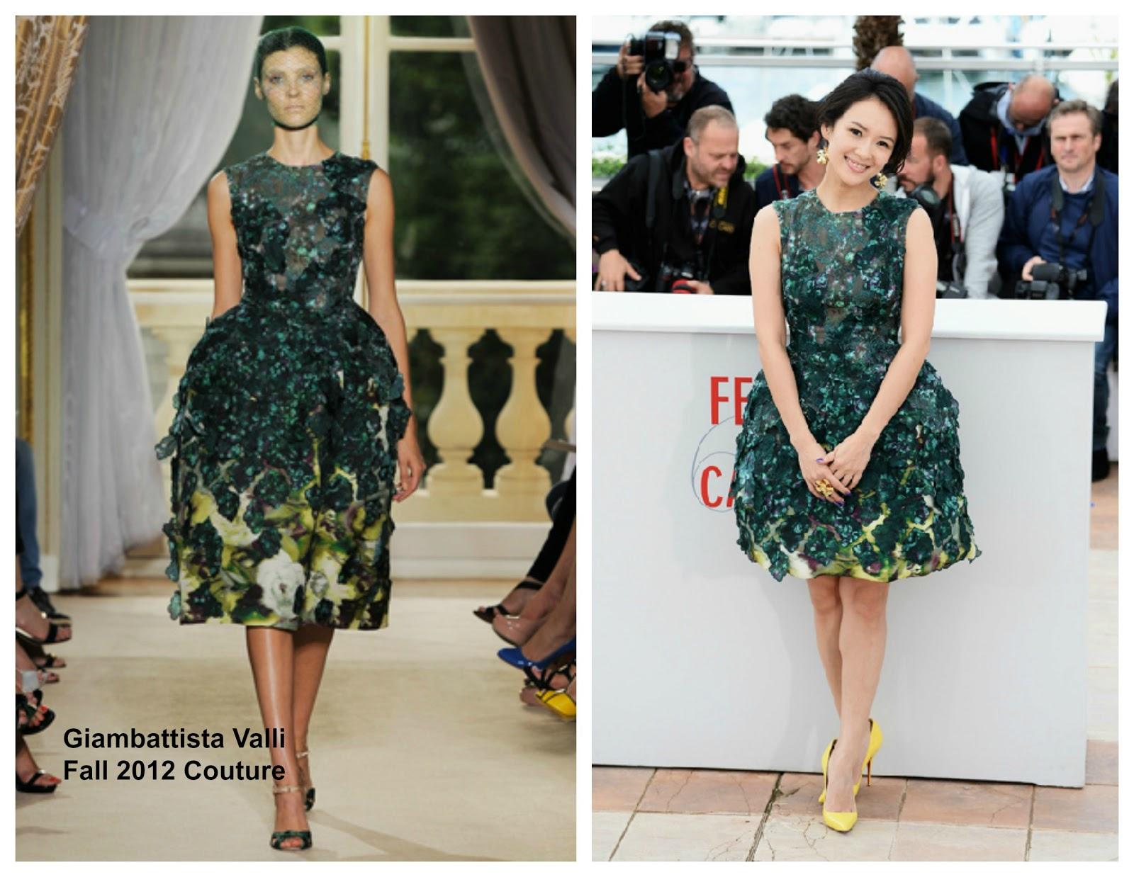 Zhang Ziyi In Giambattista Valli Couture Cannes 2017