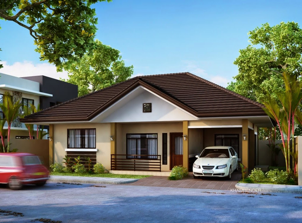 Bungalow house plans with garage for Garage home designs