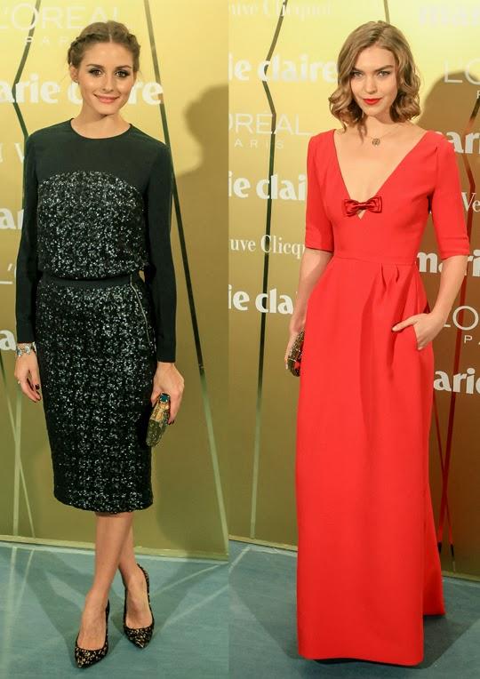 Olivia Palermo y Arizona Muse en los premios Prix de la Moda
