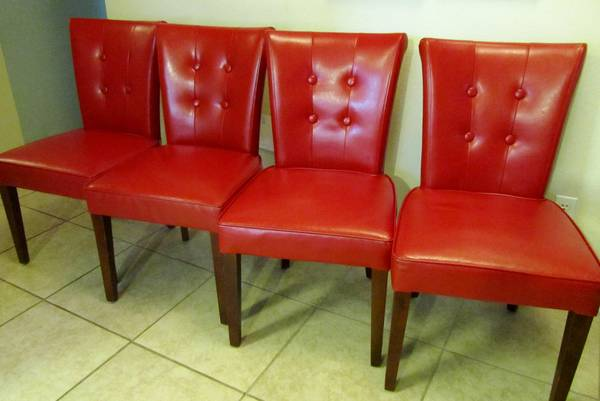 Thou shall craigslist tuesday june 25 2013 for Red dining chairs for sale