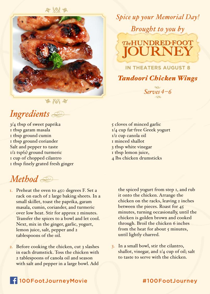 The Hundred Foot Journey #100FootJourney Tandoori Chicken