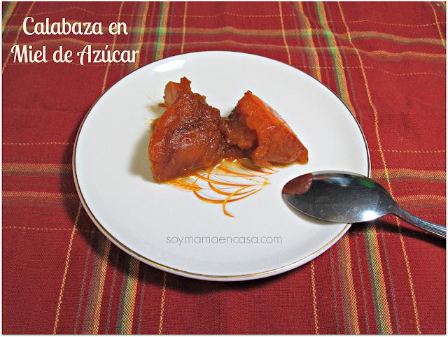 receta ayote en miel -Honduras