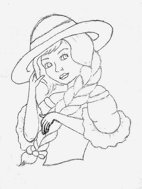 desenho de boneca  para pintar em pano de copa e colocar saia de croche