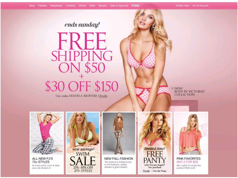 victoria secret coupons free shipping on $ 50 victoria secret