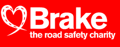 BRAKE. logo, charity, road safety