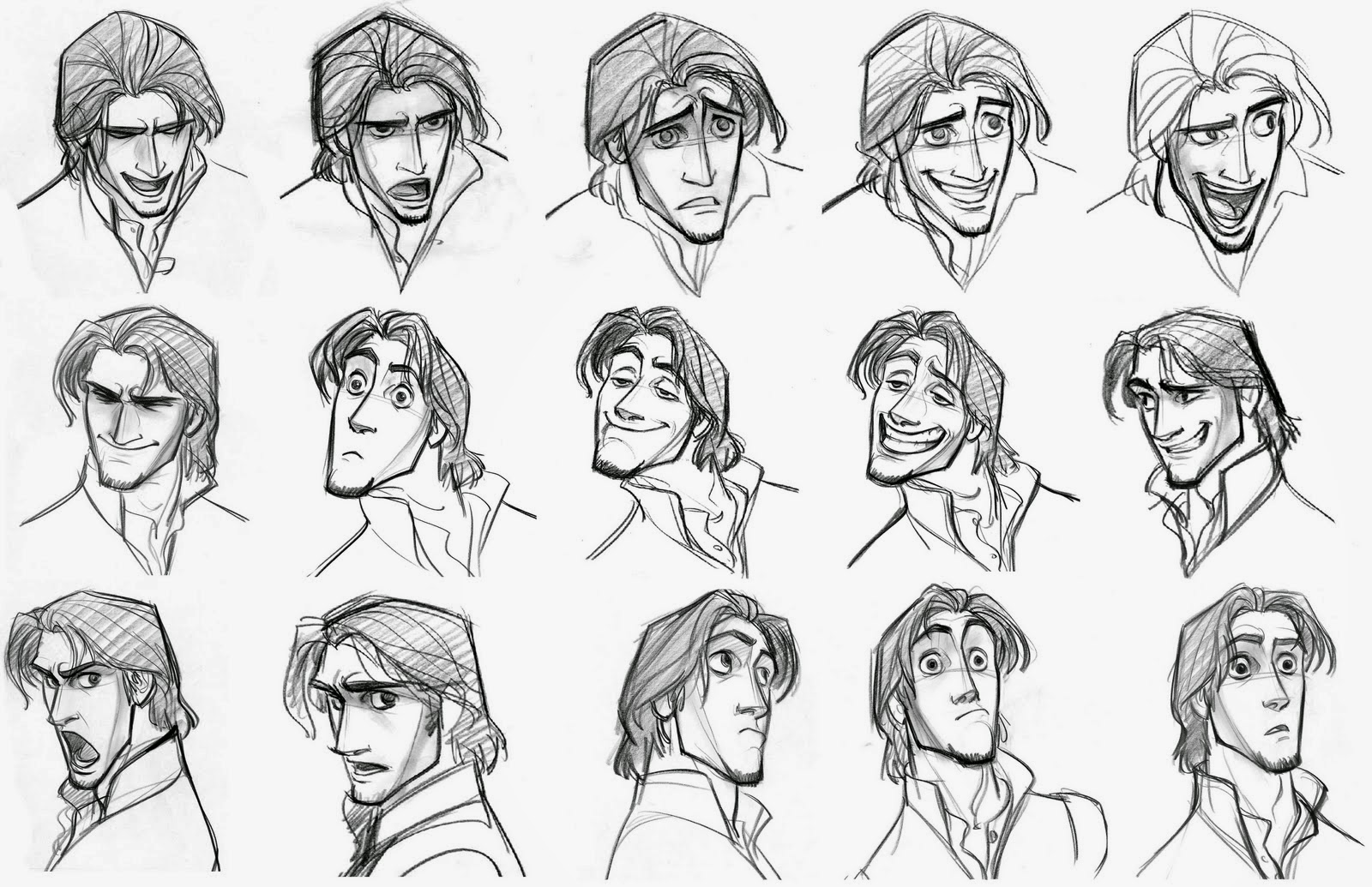 how to draw exaggerated faces