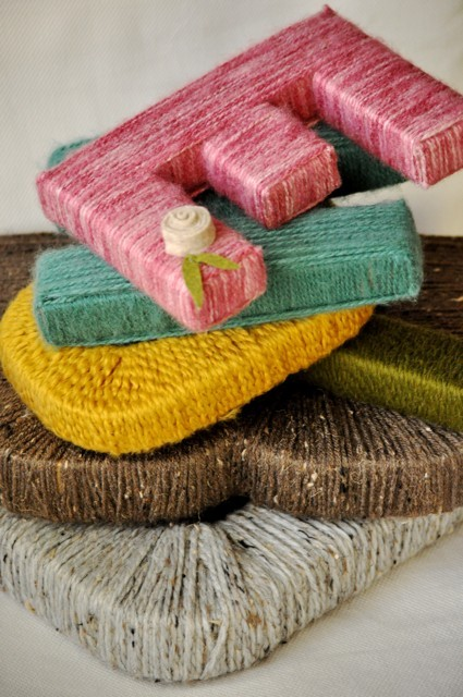 wooden letters covered in yarn Search results for 'wooden letters to paint'  yarn-covered letters details gifts under $10: mason jar desktop organizer details felt corner bookmarks details.