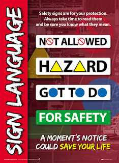 Workplace safety sign posters