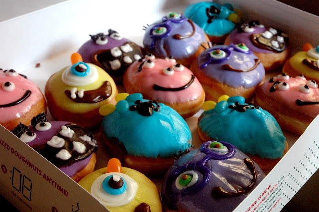 DUDE FOR FOOD: Food News: Scare Up Some Fun with Krispy Kreme s Monsters University Treats