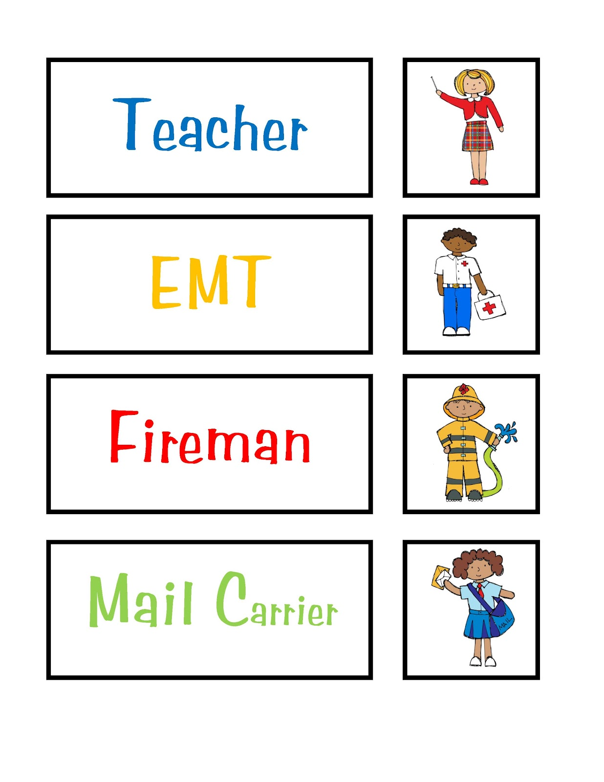 Community Helpers Theme Preschool Printables
