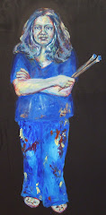 "self portrait - ""Smurf Janet"""