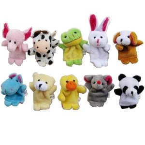 [Crazy Cart ] 10pcs Velvet Animal Style Finger Puppets Set Reviews