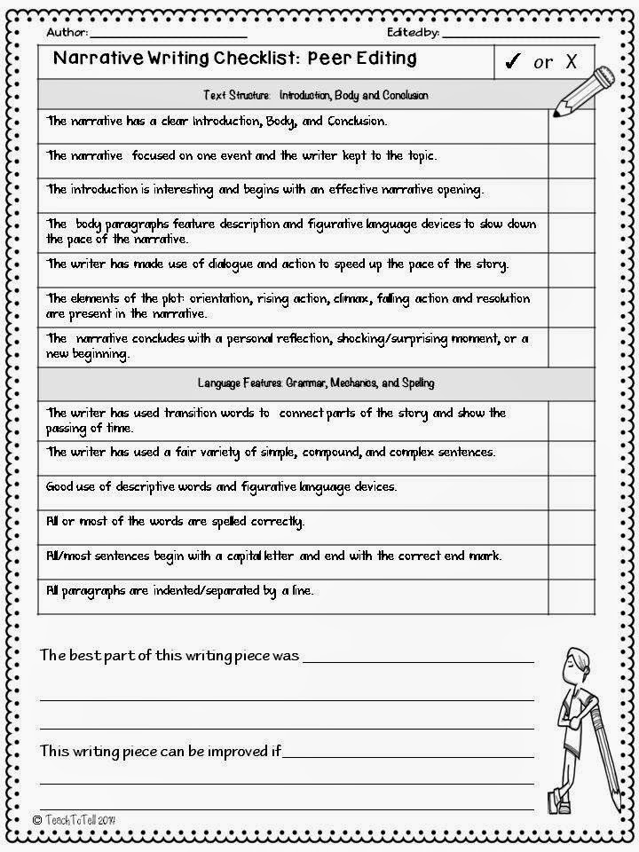 checklist grading essay Student checklist for narrative essay before i start: i have read the prompt at least 3 times and underlined the most important words i have decided on a story and.