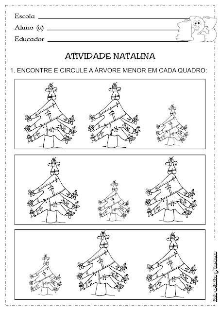 Atividade Conceito Maior/ Menor Natal