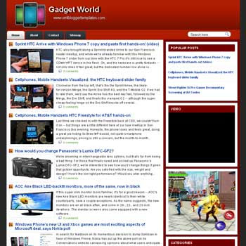 Gadget World blogger template. template gadget for blogger