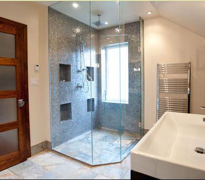 Ba os modernos ba o con ducha for Aseos modernos con ducha