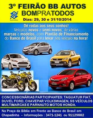 3º Feirão BB Autos Bom Pra Todos
