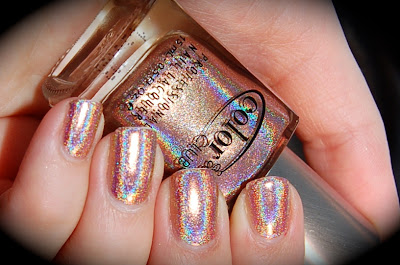 Swatch of Color Club Cosmic Fate, fait, faith, Halo Hues 2013, nail polish