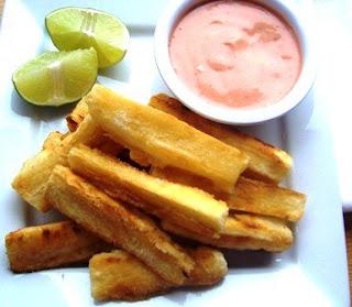 Receta de yuca frita