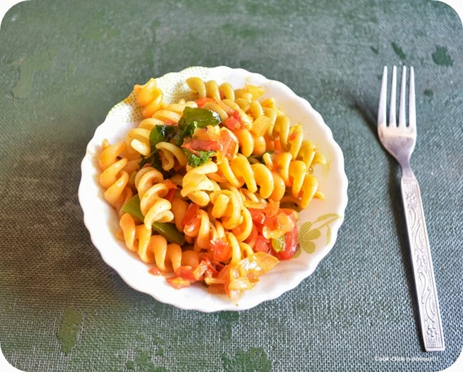 indian style masala pasta recipe | vegetable pasta indian style recipe