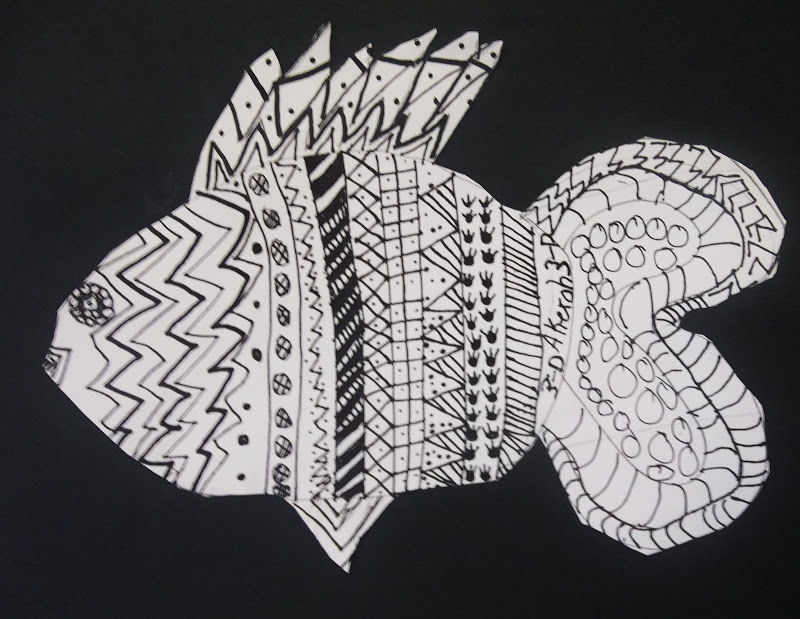 Fish Pattern Drawing it Was to Draw Patterns