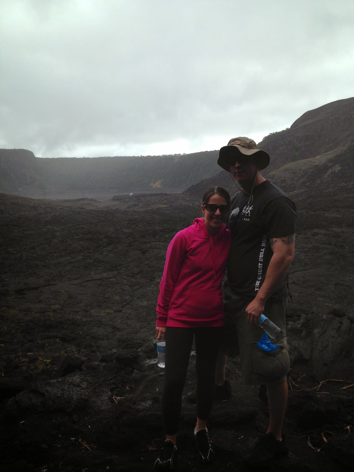 Hiking Kilauea on the big island hawaii