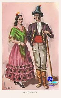 Traje típico de Granada - Editorial Artigas 1940 - Diseño: Tuser