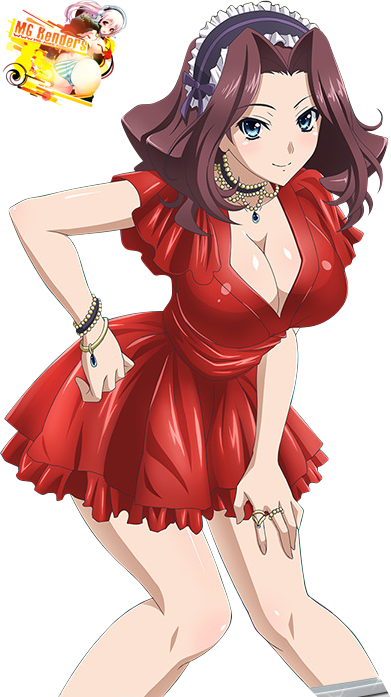 Tags: Anime, Render,  Burent,  High School DxD, ハイスクールD×D, Haisukūru D×D,  Maid, PNG, Image, Picture