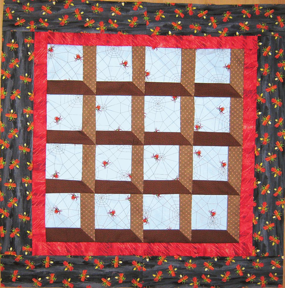 Quilt inspiration free pattern day halloween for Window quilt