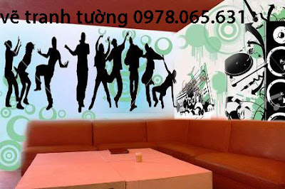 vẽ tranh tường,vẽ tranh tường quán cafe