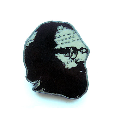 Allen Ginsberg Brooch (Beat Generation Poet)