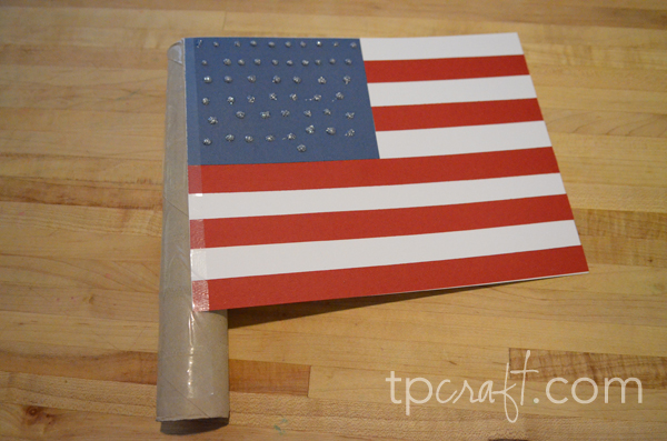 Paper towel roll american flag for Paper towel cardboard tube crafts