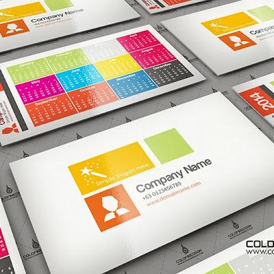 2014 Pocket Calendar -Metro Style Template