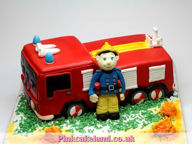 Fire Engine Birthday Cake in London