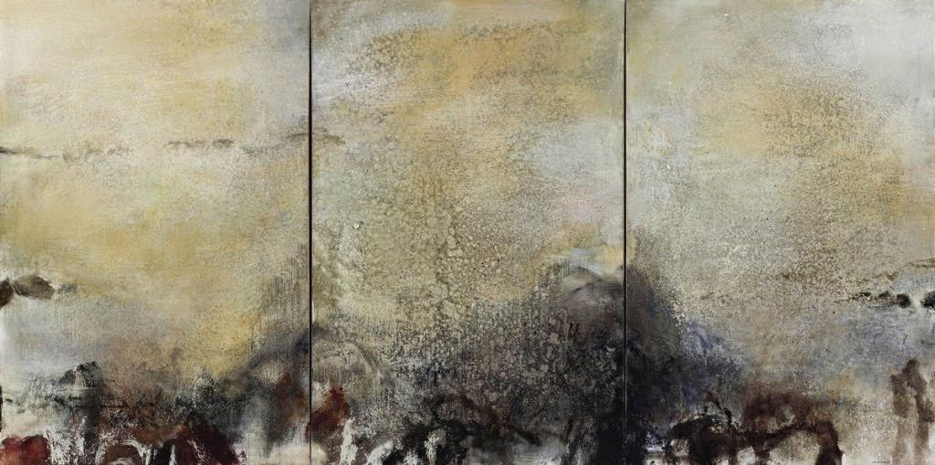 Zao Wou-Ki 15.01.82 (triptych) 1982