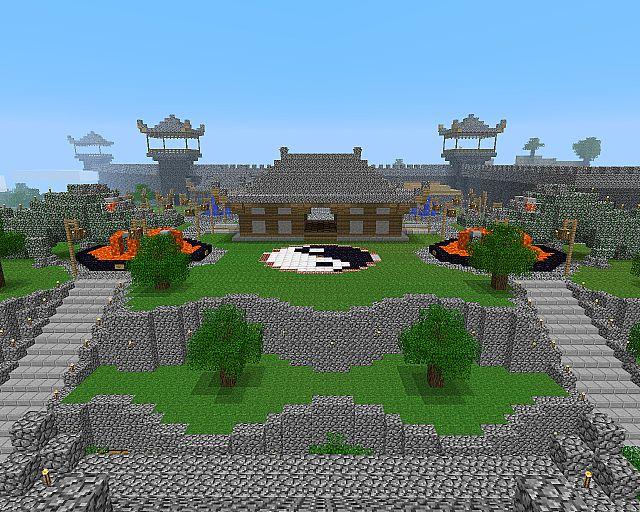 Minecraft castelo oriental Papel de parede
