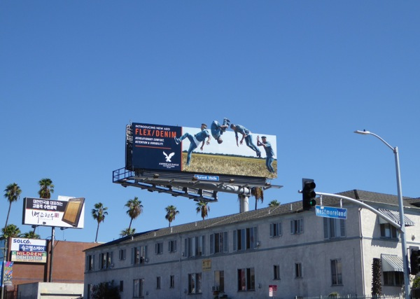 AEO Flex Denim somersault billboard