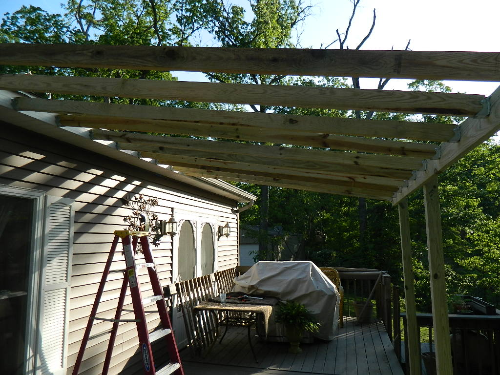 Re defind re decorated deck for Deck roof plans